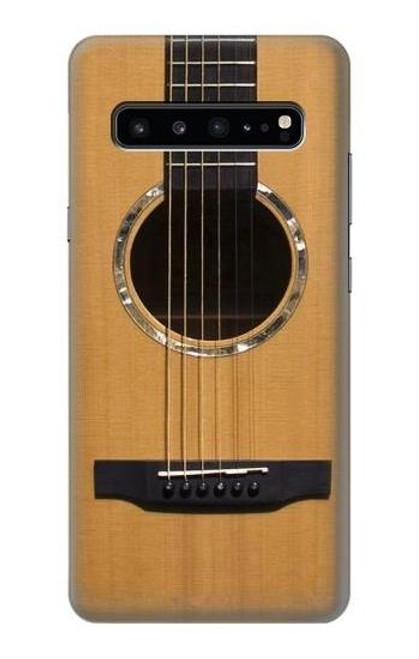 W0057 Acoustic Guitar Funda Carcasa Case y Caso Del Tirón Funda para Samsung Galaxy S10 5G