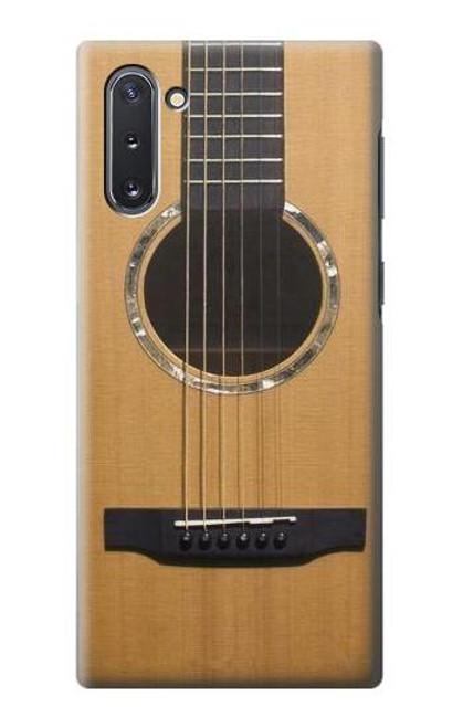 W0057 Acoustic Guitar Funda Carcasa Case y Caso Del Tirón Funda para Samsung Galaxy Note 10