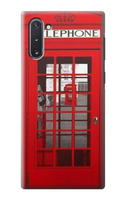 W0058 British Red Telephone Box Funda Carcasa Case y Caso Del Tirón Funda para Samsung Galaxy Note 10