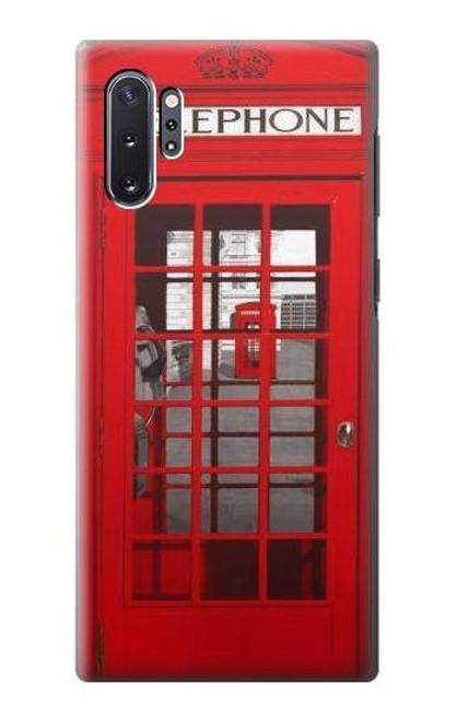 W0058 British Red Telephone Box Funda Carcasa Case y Caso Del Tirón Funda para Samsung Galaxy Note 10 Plus