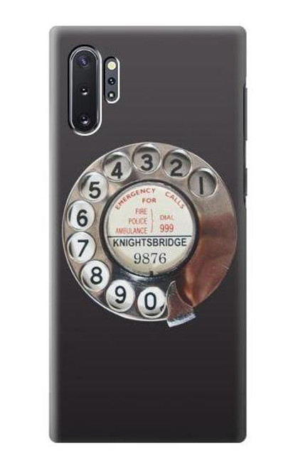 W0059 Retro Rotary Phone Dial On Funda Carcasa Case y Caso Del Tirón Funda para Samsung Galaxy Note 10 Plus