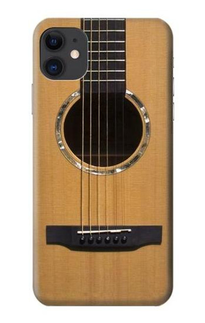 W0057 Acoustic Guitar Funda Carcasa Case y Caso Del Tirón Funda para iPhone 11