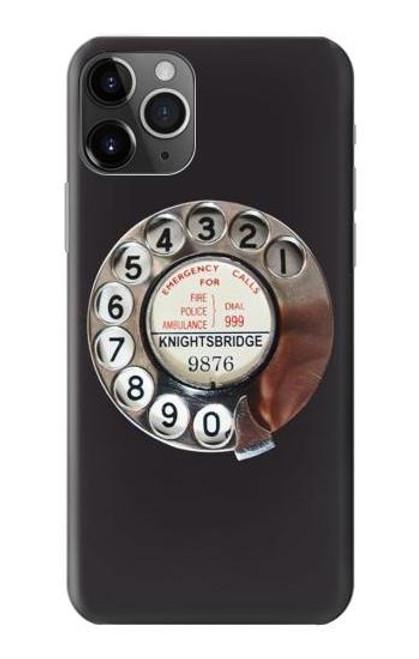 W0059 Retro Rotary Phone Dial On Funda Carcasa Case y Caso Del Tirón Funda para iPhone 11 Pro