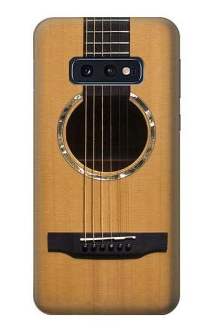 W0057 Acoustic Guitar Funda Carcasa Case y Caso Del Tirón Funda para Samsung Galaxy S10e
