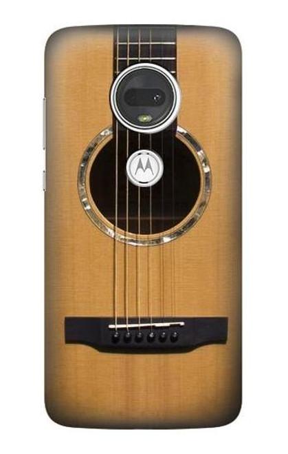W0057 Acoustic Guitar Funda Carcasa Case y Caso Del Tirón Funda para Motorola Moto G7, Moto G7 Plus