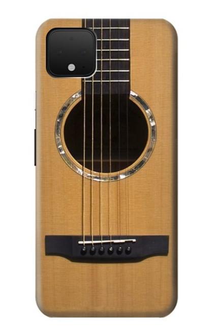 W0057 Acoustic Guitar Funda Carcasa Case y Caso Del Tirón Funda para Google Pixel 4
