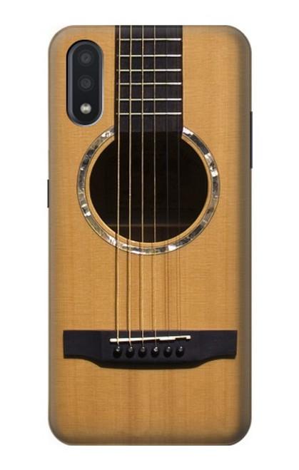 W0057 Acoustic Guitar Funda Carcasa Case y Caso Del Tirón Funda para Samsung Galaxy A01