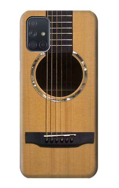 W0057 Acoustic Guitar Funda Carcasa Case y Caso Del Tirón Funda para Samsung Galaxy A71