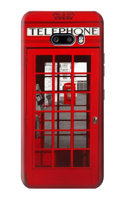 W0058 British Red Telephone Box Funda Carcasa Case y Caso Del Tirón Funda para LG G8X ThinQ