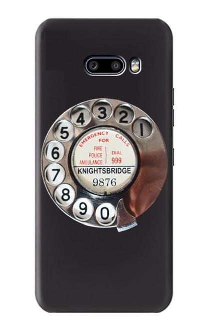 W0059 Retro Rotary Phone Dial On Funda Carcasa Case y Caso Del Tirón Funda para LG G8X ThinQ