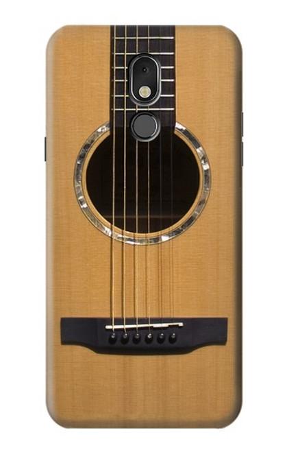 W0057 Acoustic Guitar Funda Carcasa Case y Caso Del Tirón Funda para LG Stylo 5