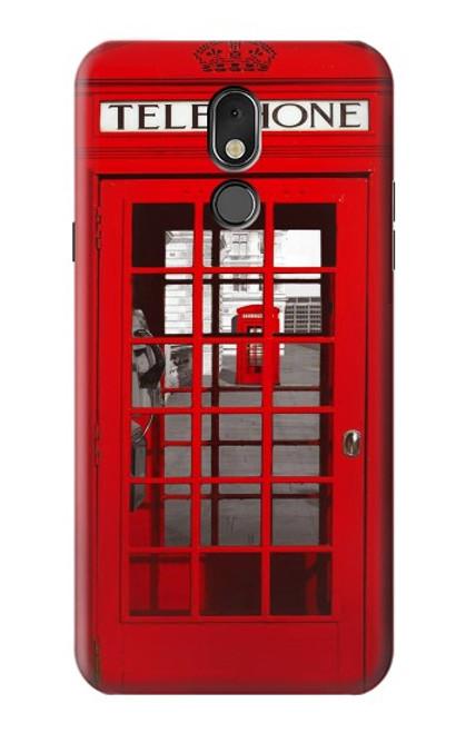 W0058 British Red Telephone Box Funda Carcasa Case y Caso Del Tirón Funda para LG Stylo 5
