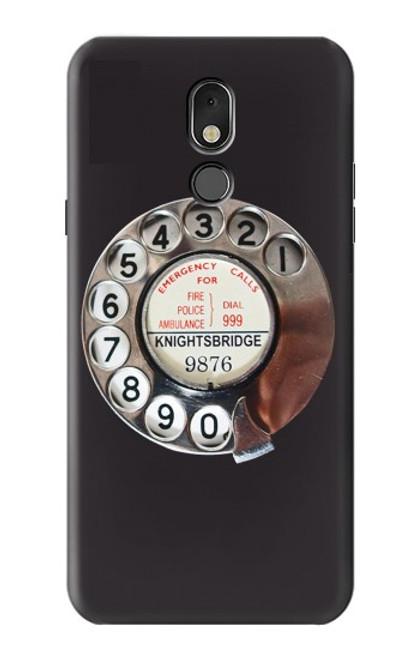 W0059 Retro Rotary Phone Dial On Funda Carcasa Case y Caso Del Tirón Funda para LG Stylo 5