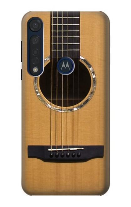 W0057 Acoustic Guitar Funda Carcasa Case y Caso Del Tirón Funda para Motorola Moto G8 Plus