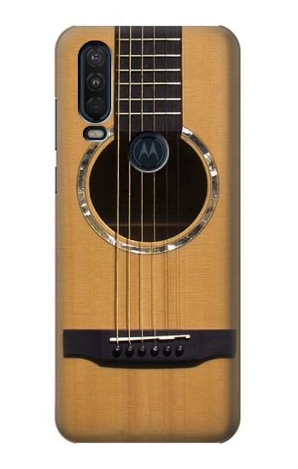 W0057 Acoustic Guitar Funda Carcasa Case y Caso Del Tirón Funda para Motorola One Action (Moto P40 Power)