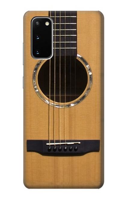 W0057 Acoustic Guitar Funda Carcasa Case y Caso Del Tirón Funda para Samsung Galaxy S20