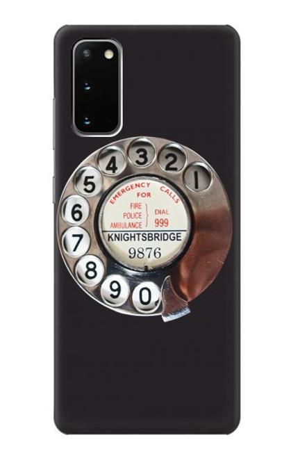 W0059 Retro Rotary Phone Dial On Funda Carcasa Case y Caso Del Tirón Funda para Samsung Galaxy S20