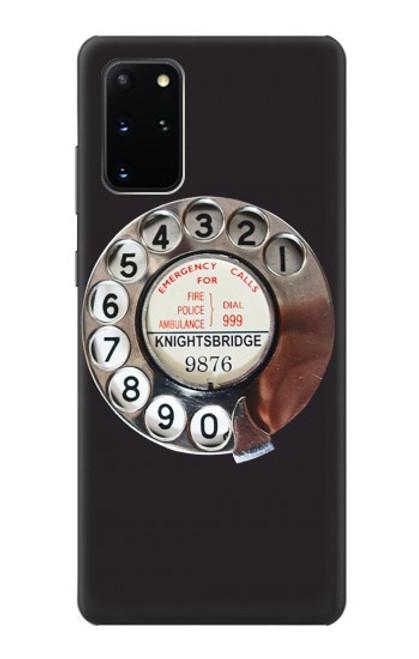 W0059 Retro Rotary Phone Dial On Funda Carcasa Case y Caso Del Tirón Funda para Samsung Galaxy S20 Plus, Galaxy S20+