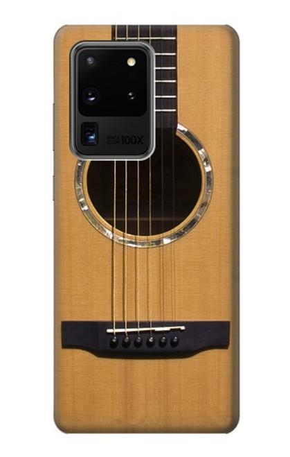W0057 Acoustic Guitar Funda Carcasa Case y Caso Del Tirón Funda para Samsung Galaxy S20 Ultra