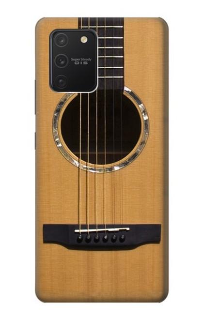 W0057 Acoustic Guitar Funda Carcasa Case y Caso Del Tirón Funda para Samsung Galaxy S10 Lite