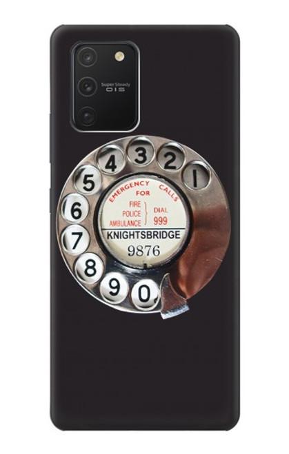 W0059 Retro Rotary Phone Dial On Funda Carcasa Case y Caso Del Tirón Funda para Samsung Galaxy S10 Lite