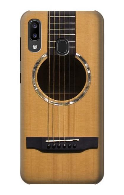 W0057 Acoustic Guitar Funda Carcasa Case y Caso Del Tirón Funda para Samsung Galaxy A20, Galaxy A30
