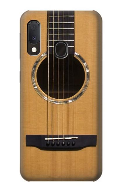 W0057 Acoustic Guitar Funda Carcasa Case y Caso Del Tirón Funda para Samsung Galaxy A20e