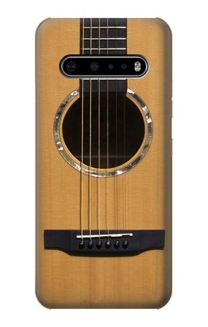 W0057 Acoustic Guitar Funda Carcasa Case y Caso Del Tirón Funda para LG V60 ThinQ 5G