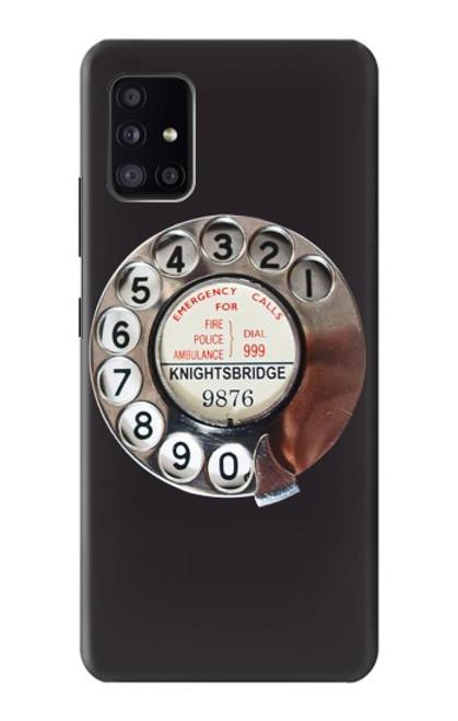W0059 Retro Rotary Phone Dial On Funda Carcasa Case y Caso Del Tirón Funda para Samsung Galaxy A41