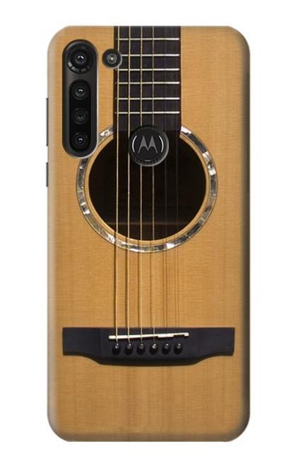 W0057 Acoustic Guitar Funda Carcasa Case y Caso Del Tirón Funda para Motorola Moto G8 Power