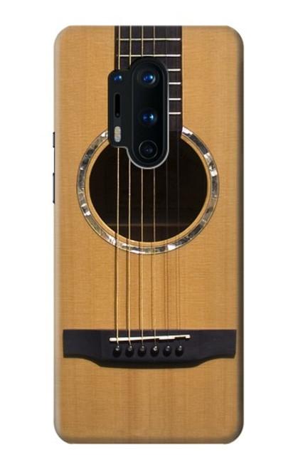 W0057 Acoustic Guitar Funda Carcasa Case y Caso Del Tirón Funda para OnePlus 8 Pro