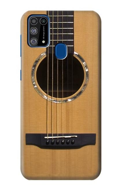 W0057 Acoustic Guitar Funda Carcasa Case y Caso Del Tirón Funda para Samsung Galaxy M31