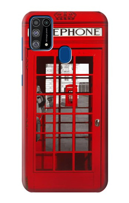 W0058 British Red Telephone Box Funda Carcasa Case y Caso Del Tirón Funda para Samsung Galaxy M31