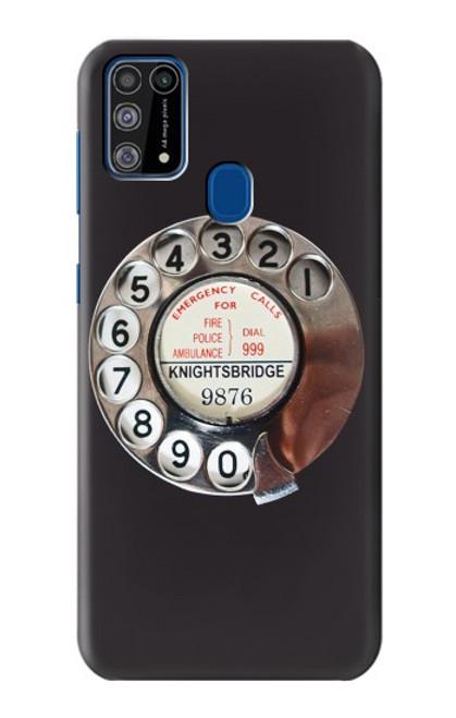 W0059 Retro Rotary Phone Dial On Funda Carcasa Case y Caso Del Tirón Funda para Samsung Galaxy M31