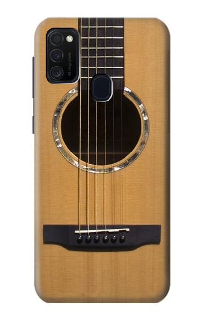 W0057 Acoustic Guitar Funda Carcasa Case y Caso Del Tirón Funda para Samsung Galaxy M21