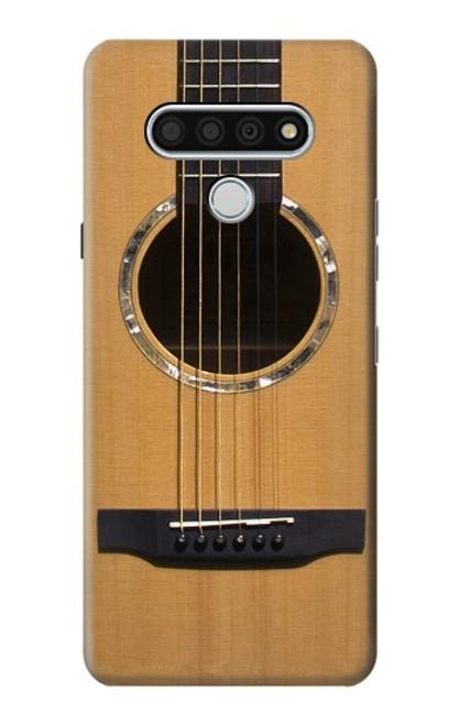W0057 Acoustic Guitar Funda Carcasa Case y Caso Del Tirón Funda para LG Stylo 6