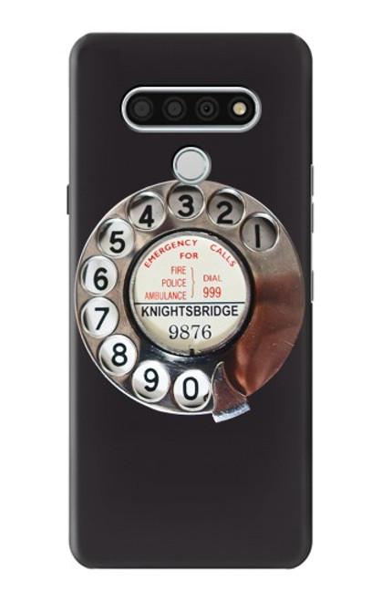 W0059 Retro Rotary Phone Dial On Funda Carcasa Case y Caso Del Tirón Funda para LG Stylo 6