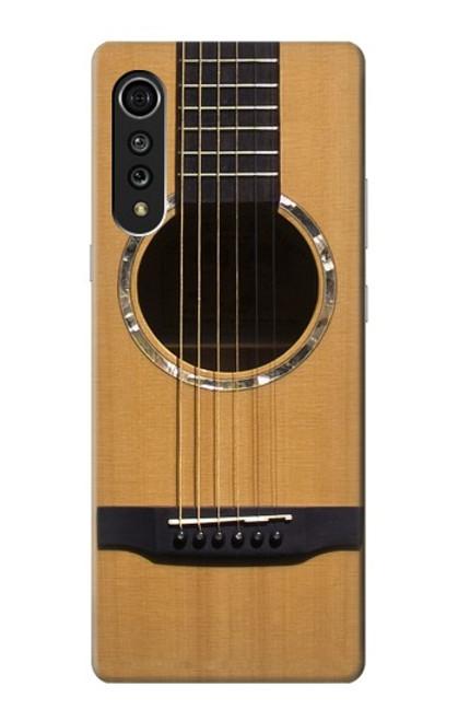 W0057 Acoustic Guitar Funda Carcasa Case y Caso Del Tirón Funda para LG Velvet
