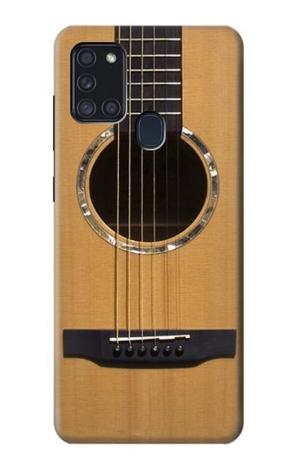 W0057 Acoustic Guitar Funda Carcasa Case y Caso Del Tirón Funda para Samsung Galaxy A21s
