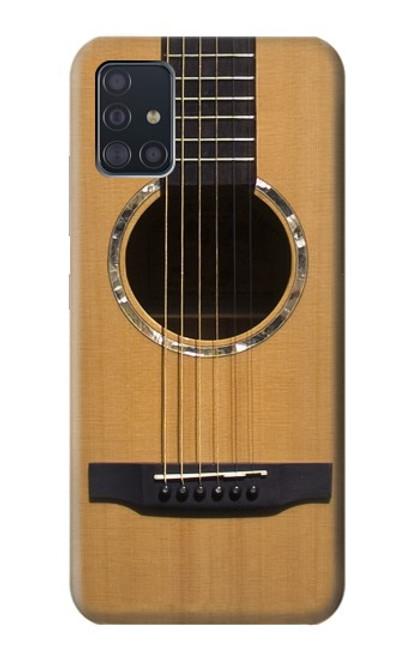 W0057 Acoustic Guitar Funda Carcasa Case y Caso Del Tirón Funda para Samsung Galaxy A51 5G [solo para A51 5G. NO para A51]