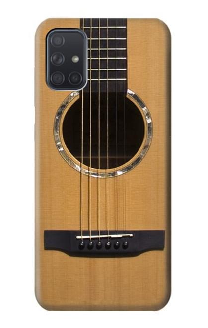 W0057 Acoustic Guitar Funda Carcasa Case y Caso Del Tirón Funda para Samsung Galaxy A71 5G [solo para A71 5G. NO para A71]