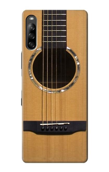 W0057 Acoustic Guitar Funda Carcasa Case y Caso Del Tirón Funda para Sony Xperia L4