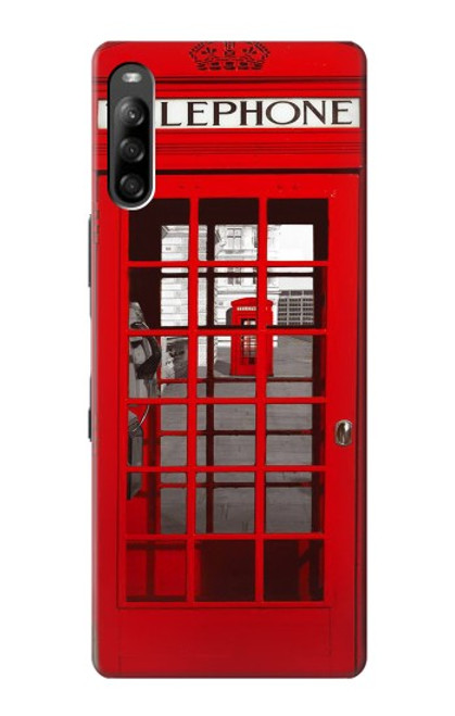 W0058 British Red Telephone Box Funda Carcasa Case y Caso Del Tirón Funda para Sony Xperia L4