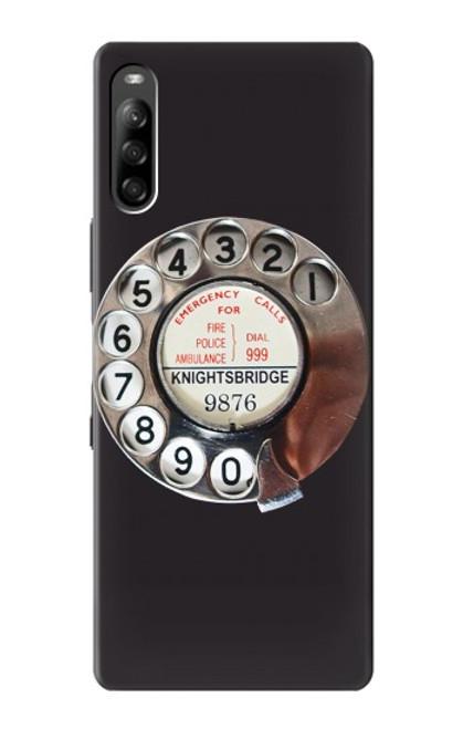 W0059 Retro Rotary Phone Dial On Funda Carcasa Case y Caso Del Tirón Funda para Sony Xperia L4