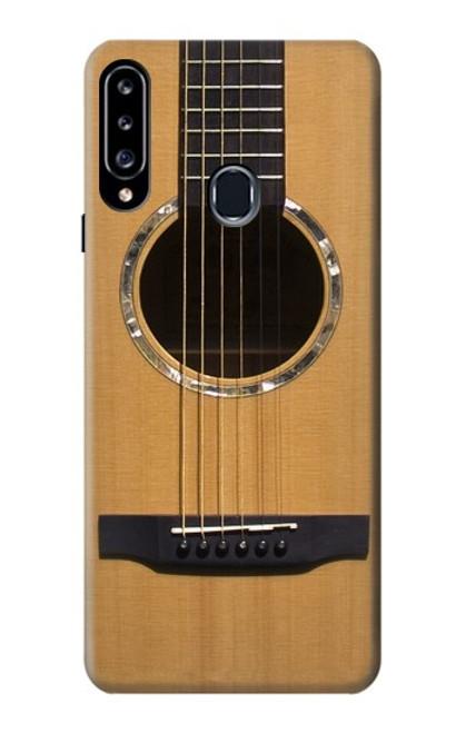 W0057 Acoustic Guitar Funda Carcasa Case y Caso Del Tirón Funda para Samsung Galaxy A20s