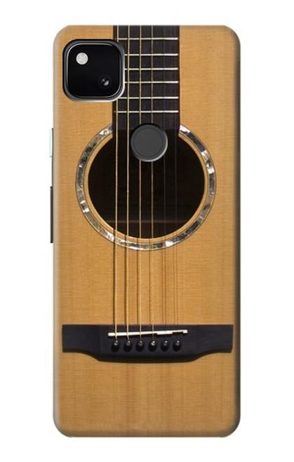 W0057 Acoustic Guitar Funda Carcasa Case y Caso Del Tirón Funda para Google Pixel 4a