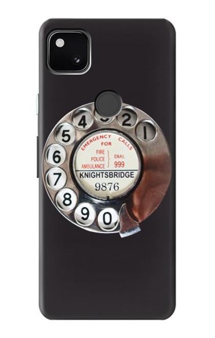 W0059 Retro Rotary Phone Dial On Funda Carcasa Case y Caso Del Tirón Funda para Google Pixel 4a