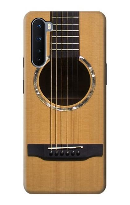 W0057 Acoustic Guitar Funda Carcasa Case y Caso Del Tirón Funda para OnePlus Nord