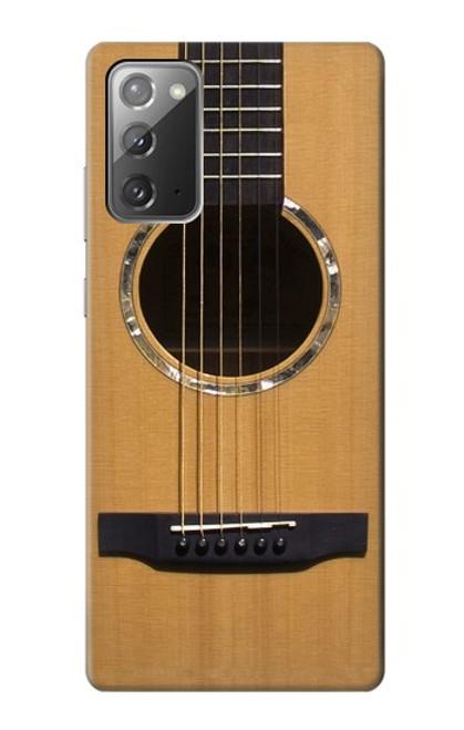 W0057 Acoustic Guitar Funda Carcasa Case y Caso Del Tirón Funda para Samsung Galaxy Note 20
