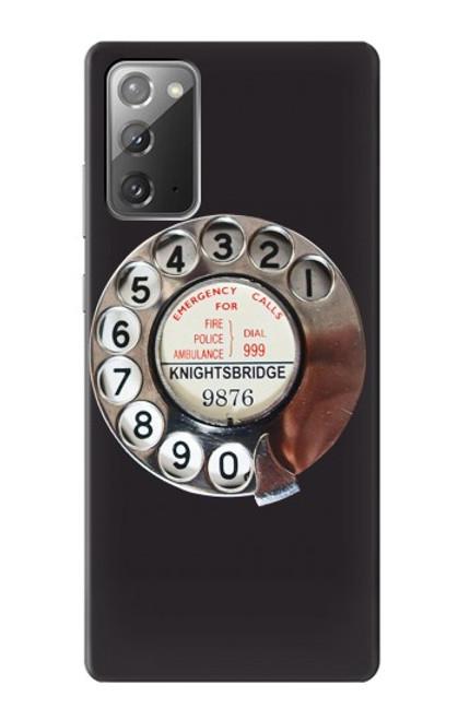 W0059 Retro Rotary Phone Dial On Funda Carcasa Case y Caso Del Tirón Funda para Samsung Galaxy Note 20